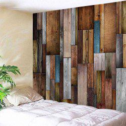 Vintage Wood Texture Throw Wall Art Tapisserie - Multicolore