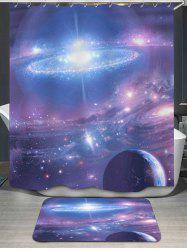 Galaxy Print Shower Curtain and Rug