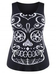 Plus Size Skull Slim Tank Top