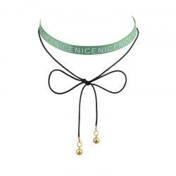 Archets Nice Long Choker Necklace - Vert