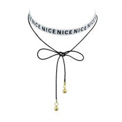 Archets Nice Long Choker Necklace - Blanc