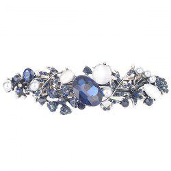 Hollow Out Floral Faux Gem Inlaid Barrette - PURPLISH BLUE