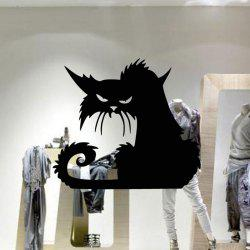 Removable Cat Shape Wall Sticker -