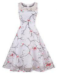 Organza Floral Print Party Summer Dress