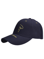 Paper Plane Pattern Letters Embroidery Baseball Hat - PURPLISH BLUE