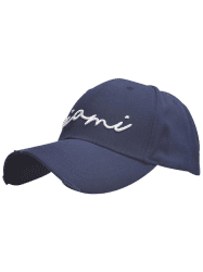 Broken Hole Letters Embroidered Baseball Cap