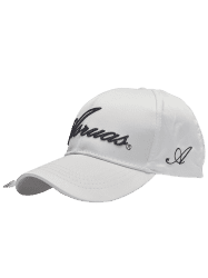Letters Embroidery Long Tail Embellished Baseball Cap - WHITE