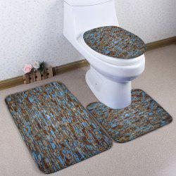 3Pcs / Set Stone Brick Flannel Bath Toilet Mat - Multicolore