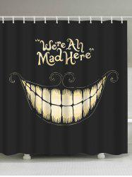 Funny Smiling Fabric Halloween Decor Shower Curtain