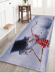 Lying Snowman Print Anti-skid Water Absorption Area Rug - GREY WHITE W24 INCH * L71 INCH