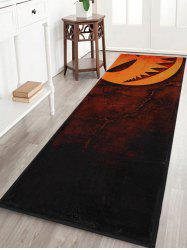 Halloween Pumpkin Print Anti Slip Indoor Outdoor Area Rug -