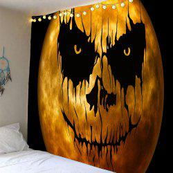 Waterproof Horrible Pumpkin Print Halloween Wall Tapestry