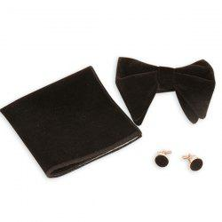 Three Pieces Handkerchief Bowtie Cufflink Suit -