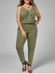Plus Size Cami Jumpsuit - ARMY GREEN 2XL