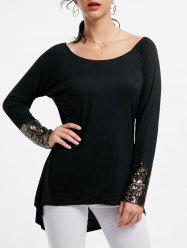 Long Sleeve Sequin Tunic Tee