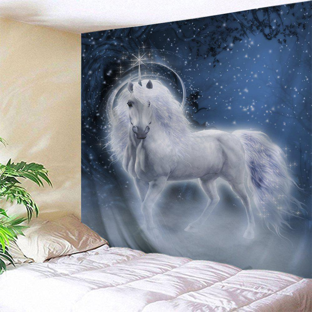 Unicorn Animal Bedroom Decor Wall TapestryHOME<br><br>Size: W71 INCH * L91 INCH; Color: COLORMIX; Style: Romantic; Theme: Animals; Material: Polyester; Feature: Removable,Washable; Shape/Pattern: Print; Weight: 0.3800kg; Package Contents: 1 x Tapestry;