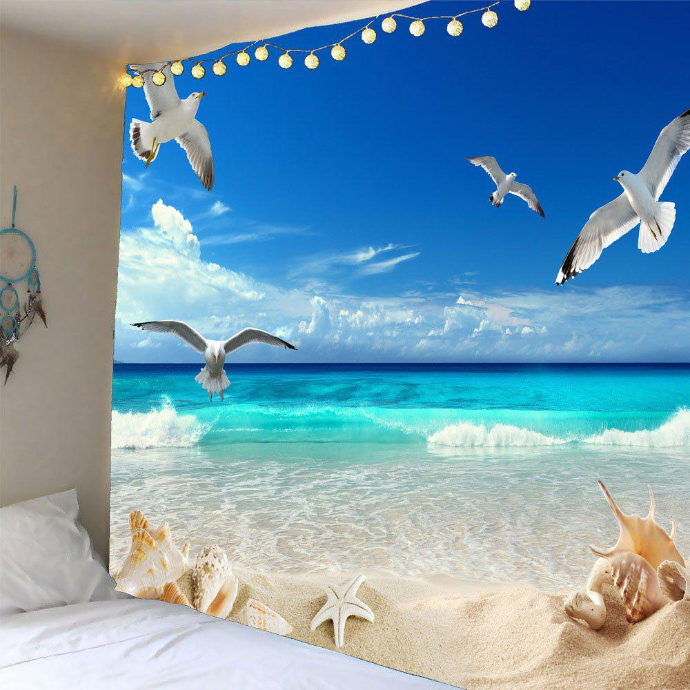 Waterproof Sea Mew Printed Wall Hanging TapestryHOME<br><br>Size: W59 INCH * L51 INCH; Color: COLORMIX; Style: Beach Style; Theme: Beach Theme; Material: Polyester; Feature: Removable,Washable; Shape/Pattern: Animal; Weight: 0.2100kg; Package Contents: 1 x Tapestry;