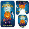3Pcs/Set Halloween Pumpkin Flannel Bath Toilet Rug -