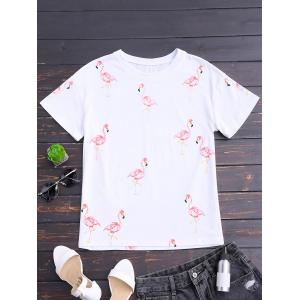 Flamingo Print Short Sleeve T-shirt