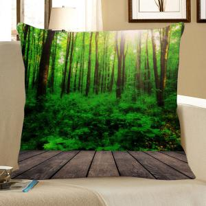 Sunlight Forest Pattern Square Pillow Case