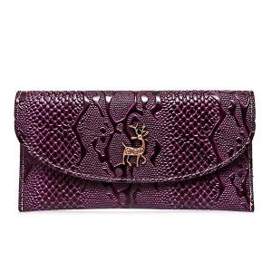 Faux Leather Embossed Clutch Wallet