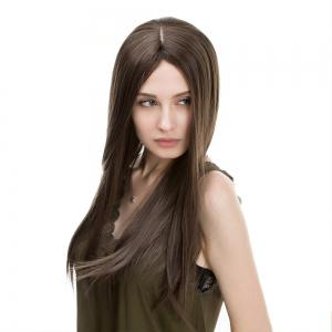 Middle Part Long Straight Synthetic Wig