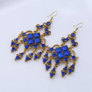 Rhinestone Geometric Vintage Chandelier Earrings