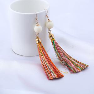 Bead Tassel Vintage Hook Drop Earrings
