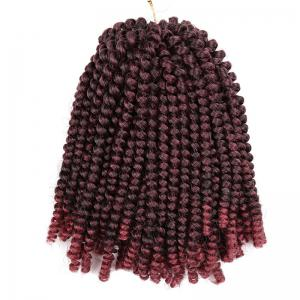 Short Fluffy Afro Spring Twist Braids Hair Extensions - Wine Red