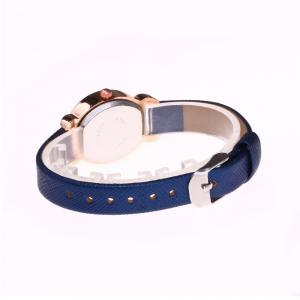 Faux Leather Band Number Watch - BLUE