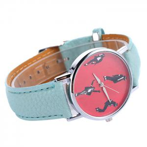 Michael Jackson Pattern Faux Leather Strap Watch -