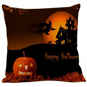 Halloween Pumpkin Sorcerer Printed Pillowcase -