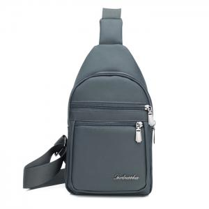 Nylon Zippers Front Crossbody Bag