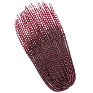 Long Crochet Faux Dread Locs Hair Braids Extensions - WINE RED