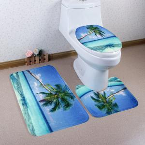 Soft Absorbent Sea Landscape 3Pcs Toilet Mats Set