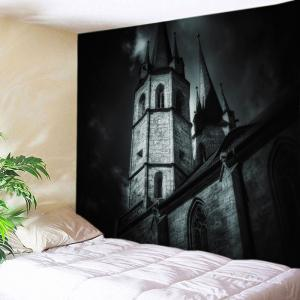 Castle Print Halloween Tapestry Wall Hanging Art Decoration