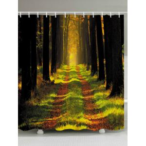 Forest Pathway Print Fabric Waterproof Bathroom Shower Curtain