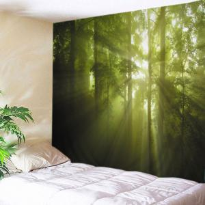 Forest Trees Sunlight Print Tapestry Wall Hanging Art Decoration