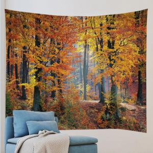 Maple Forest Print Tapestry Wall Hanging Art Decor -