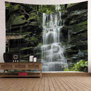 Stone Falls Print Tapestry Wall Hanging Art Decoration - COLORMIX W91 INCH * L71 INCH