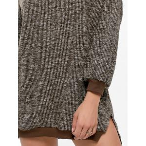 Crew Neck Ribbed Mini Casual Sweater Dress -