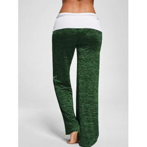 Foldover Heather Palazzo Pants - SHAMROCK 2XL