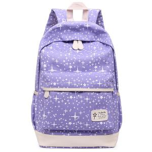 Star Print 3 Pieces Canvas Backpack Set -