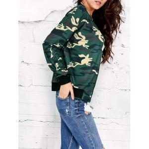 Camo Print Zip Up Jacket -