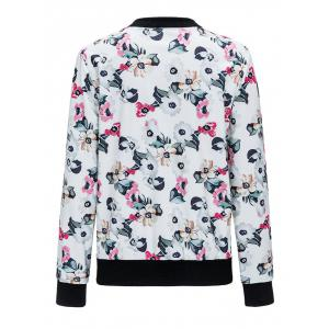 Zip Up Floral Printed Jacket -