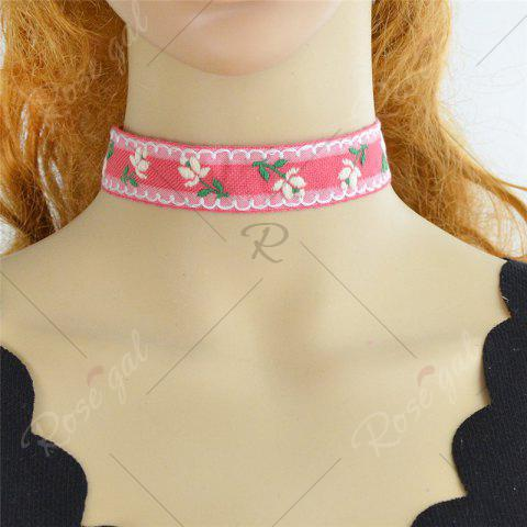Affordable Flower Ribbon Embroidery Choker Necklace Set - COLORMIX  Mobile