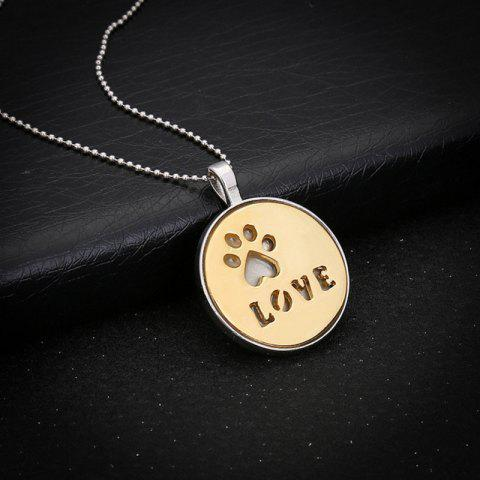 Latest Glow in the Dark Claw Footprint Love Necklace - GOLDEN  Mobile