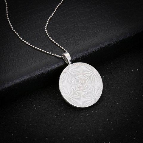 Trendy Glow in the Dark Claw Footprint Love Necklace - SILVER  Mobile