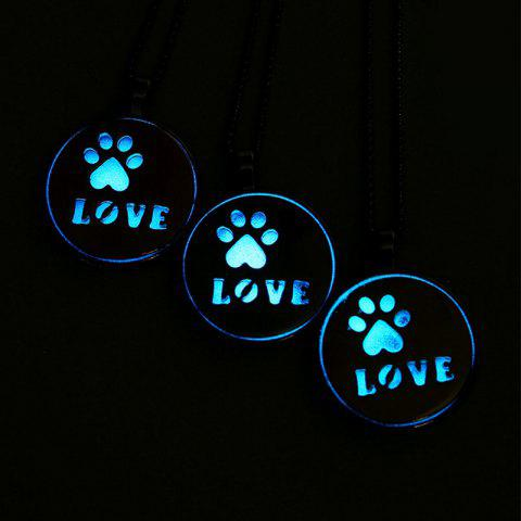 Buy Glow in the Dark Claw Footprint Love Necklace - ROSE GOLD  Mobile