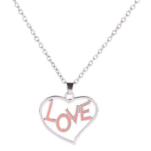 Buy Love Glow in the Dark Heart Necklace - SILVER  Mobile